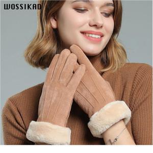 Winter Gloves Chamois Keep Warm Glove Double-deck Thickening Windbreak Cold Touch Screen Glove Winter Couple Gloves Luv jllmRN