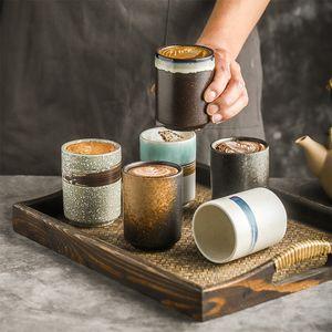 220ml Keramik Kaffeetasse Coffee Shop Latte Einzelne Zug Wasser Tassen Restaurant Küche Bar Teetasse Büro Kaffeetasse y0219