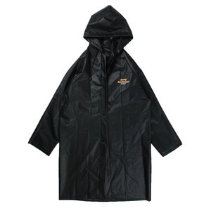 Waterproof Print New 2021 Frostered Raincoat Men Mens Women Hop Streetwear Letter Coats Hip Casual Harajuku Jacket Windbreaker Black AS Lvtt