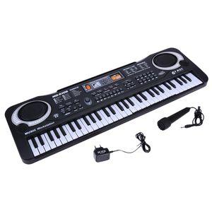 ABUO-MQ 61 Keys Digital Music Electronic Keyboard Key Board Electric Piano Children Gift Eu Plug
