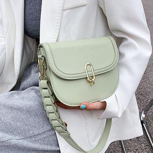 Pleated Belt Pu Leather Crossbody Bag for Women 2021 Fashion Sac A Main Female Shoulder Bag Female Handbag and Purses