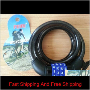 Bicycle Anti Theft Lock Steel Wire Parts Four Digit Number Password Lock Sturdy Durable Super Anti Shear More Con qylptw mj_fashion