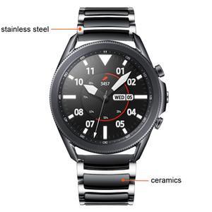 Per Samsung Galaxy Watch 3 45mm 41mm Band Luxury Cinturino in ceramica GALAXY GALAXY Watch 46MM Active 2 AmazFit BIP Huawei Watch GT 2E 2 cinturino 0311