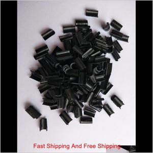 100pcs lot Keratin Glue Nail Nail Tip Keratin U-shape Glue Nail Tip For Fusion Hair Extension Clear Brown Bla qylPup comecase