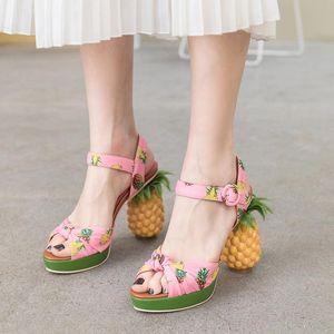 Dovereiss Fashion Chaussures Femmes Élégante Chaussures Party Sexy Pinkl Etrange Style Sandals 43
