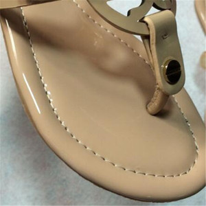 2021 Moda Marka Wonen Sandalet BSize 35-42 Flip-Flop Kırmızı Sandalet Ile Kauçuk Taban Ile Web Kauçuk Kayış Kadın Terlik Ücretsiz 114