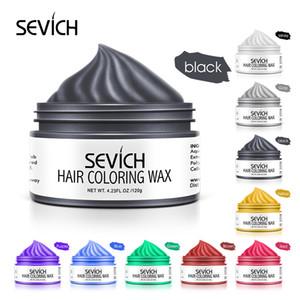 Sevich 9 couleurs Couleur de cheveux Cire forte et maintien de cire de cheveux unisexe Couleur noire Couleur Colle Colle Teinture temporaire pour le style