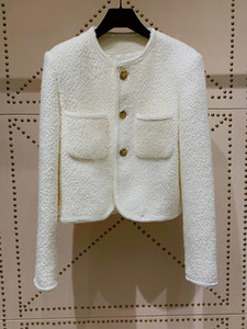 Milan Runway Coats 2021 O Neck Long Sleeve Women's coats Designer Coats Brand Same Style Jackets 0303-35