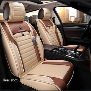 Coperchi sedili auto durevoli Pelle universale Cinque sedili Set Stuoie per cuscino per 5 posti Seater Car Fashion 038