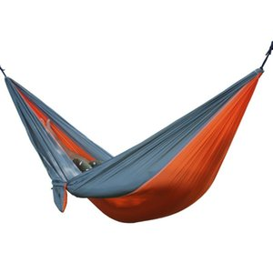 Portable Outdoor Hammock 2 Person Garden Sport Leisure Camping Hiking Travel Kits Hanging Bed Hammocks Hangmat For Playing CCD5005