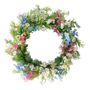 Artificial Forsythia Wreath Primrose Wreath for Home Office Garden Party Wedding Arch Front Door Wall Window Decor