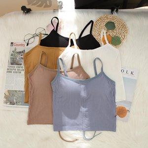 Camisoles & Tanks CHRLEISURE Drawstring Women's Tank Top Wireless Solid Tube Soft Fashion Female Underwear Comfortable Enjoyment