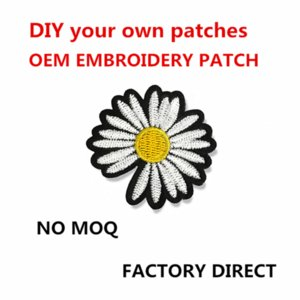 DIY Your Own Sewing Patch OEM Custom Design Any Size Logo Quality Brand Embroidered Clothing Patches Heat Transfer Paper