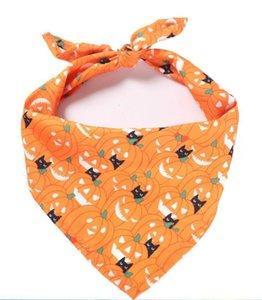Drool Monolayer Triangle Cat Pet Printed Festival Decor Scarf Dog Apparel Halloween Decorations HHB2262