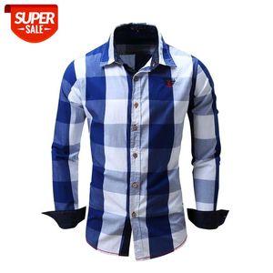 Top Selling Product in 2020 Novo Europeu Americano Homens Casuais Casuais de Manga Longa Camisa de Algodão Camiseta Camisa Masculina # FG5Y