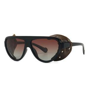 Высококачественные мужские поляризованные солнцезащитные очки 2021 модный бренд дизайнер оттенок кожаные металлические автомобильные вождения мужские квадратные солнцезащитные очки UV400
