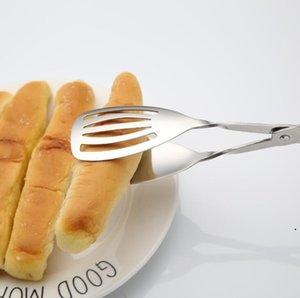 Alimento tenazes de aço inoxidável clipe de alimento clipe barbecue buffet salada tesoura pão pão tenazes cozinhar ferramentas cozinha gadgets navio navio ahb5143