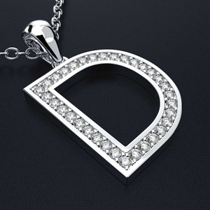 HBP luxury new Korean version simple clavicle chain creative D series fashion versatile Pendant letter necklace straight