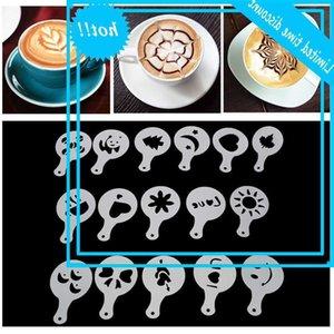 16 шт. Сахарное мыло капучино латте бариста шаблоны прессформы Strowoi аксессуары кофе трафаретный фильтр