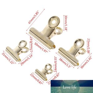 5 Pcs set Gold Bag Clips Bulldog Letter Grip Stainless Steel Paper File Binder Clip Food Sealing Clips Office Kitchen 4 Size