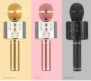 WS858 Handheld Microphones Bluetooth Wireless KTV WS-858 Microphone With Speaker Mic Microfono Loudspeaker Portable Karaoke Player