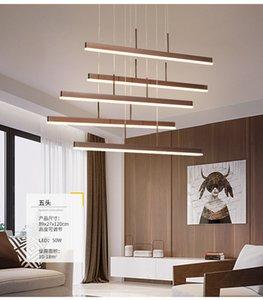 LED Rectangle Pendant Lamps Chandeliers Ceiling Lights Modern Fashion Lamps Fan Blade Design Light For living Room Hotel