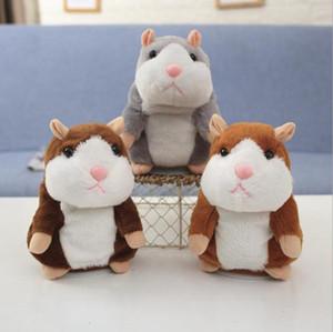 Talking Hamster Mouse Pet Plush Toy Cute Speak Sound Record Hamster Talking Record Mouse Stuffed Plush Animal Kids Toy