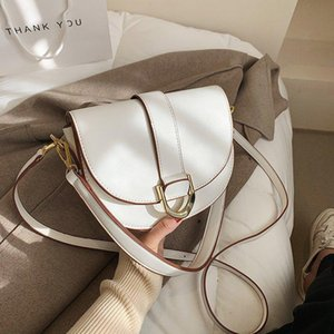 Cross Body Simple Solid Color Pu Leather Mini Saddle Crossbody Bag Fashion 2021 Spring Shoulder Purses And Handbags Luxury Designer