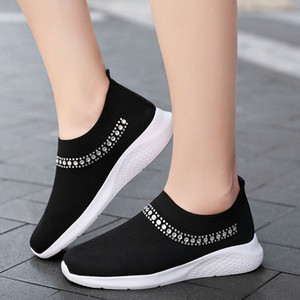 Women Shoes Womens Breathable Mesh Sneakers Shoes Ballet Flats Ladies Slip On Flats Loafers Plus Size 35 43 Formal Shoes For Men Work b549#