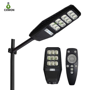 2021 New Solar LED Street Lamp 100W 200W 300W Integrated Radar Sensor Outdoor Lighting Lamp for Street Garden Path Park