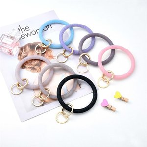 Silicone Wrist Key Ring Fashion Glitter Bracelet Sports Keychain Bracelets Bangle Round Key Rings Large o Cute Keyring