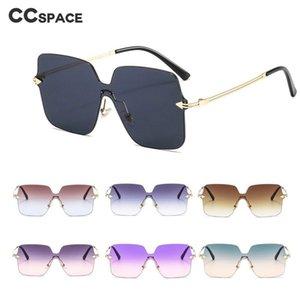 Óculos de sol 46658 Metal One-peça Quadro quadrado para homens e mulheres Moda Marca Designer Sunshade UV400 Óculos retrô