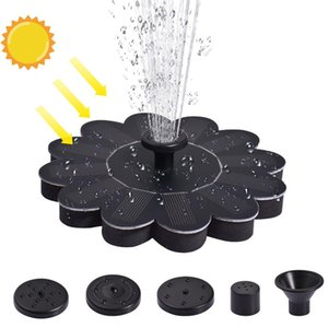LED Solar Fountain Pump 7V With 4 Nozzles Portable Floating Solar Powered Water Fountain Pump For Birdbath Pond Garden Decor