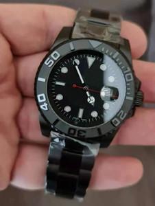 Men Mechanical Automatic Movement Black Watch Stainless Bezel Self-wind Watches Fashion Designer 2813 Professional Wristwatch Reloj