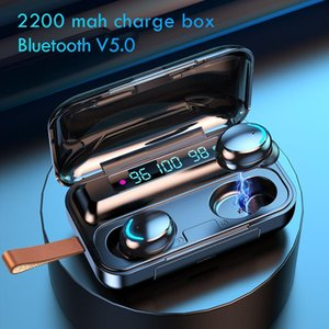 F9-BluetoothWireless Headphones with Mic Sports Waterproof TWS Bluetooth Earphones Touch Control Wireless Headsets Earbuds Phone