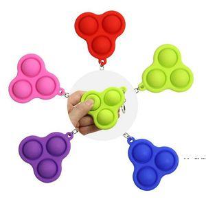Soft Push Bubble with Key Chain Pop Bubble Fidget Sensory Fidget Toy Pop Fidget Bubble Popping Stress Reliever FWE4926