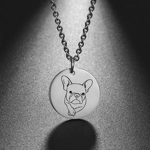 FishHook Dog Cat Collier animal Collier Rose Or Couleur En Acier Inoxydable Pour Femme Homme Enfant Kid Rond Pendentif Chaîne Chaîne Couker Bijoux10