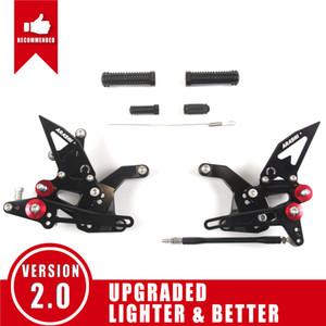 Arashi ( Version 2.0 ) Adjustable Rearsets Footrests Footpegs Foot Peg Motorcycle Accessories For Kawasaki Z900 ZR900 2017 - 2019 2018