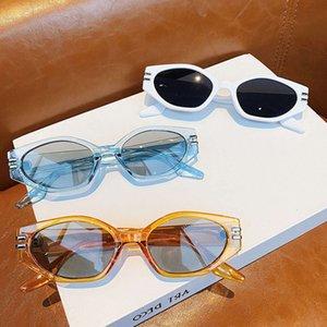 Então ovos modo de olho irregular mulheres vintage oval azul chá olho homens sombras uv400 óculos de sol