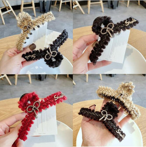 New Fashion Acetate Hair Jewelry Accessories Hollow Out Hair Middle Size Rhinestone Crab Clips For Women Girls Tiara1