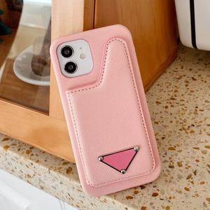 Cas de téléphone de mode de Deluxe pour iPhone 11 12 PRO Max XS XR XSMAX 7 8 PLUSTOP Quality Titulaire de la carte de poche Couvercle de téléphone portable