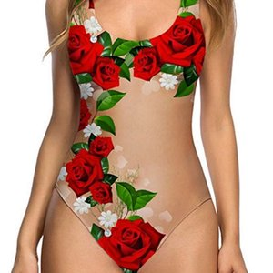 Yeni Seksi Meyve Kabuğu Kadın Tek Parça Bikini Cilt Renk Mayo