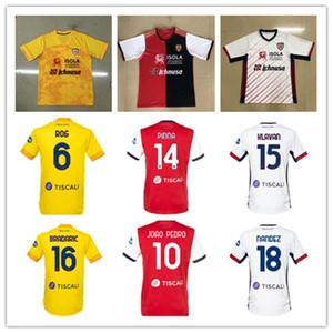 Mens 20 21 Cagliari Calcio Futebol Jerseys Cerri João Pedro Nainggolan Nandez Pavoletti Simeone 2020 2021 Maglie da Anniversary Football Shir
