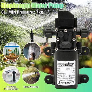 DC 12V 6L min Electric Water Pump Black Micro High Pressure Diaphragm Self-Priming Cooling Car Washer Water Pump Sprayer