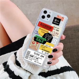 Роскошные четкие штамп этикетки штрих-код чехол для чехол для Xiaomi Redmi ПРИМЕЧАНИЕ 10 9 8 PRO NOTE7 8T 9S 9 Lite 9T A3 POCO X3 Симпатичная задняя крышка