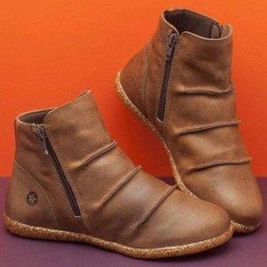 Botas de plataforma de tobillo de las mujeres lasperales Dropshipping New Otoño e invierno SOFT SOFTS Zipper botas de invierno 2019 Zapatos de mujer M9QV #