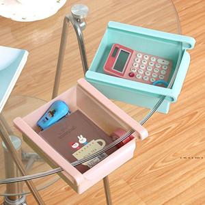 Plastic Kitchen Storage Box Household Refrigerator Storage Holders Drawer Storage Rack Space Saving Drain Kitchen Shelf 4 Colors EWF5318