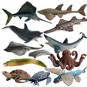 Моделирование летающих рыб парусник акул кит черепаха дельфин океан животных модель фигурка фигурка дома украшения аксессуары декор C0220