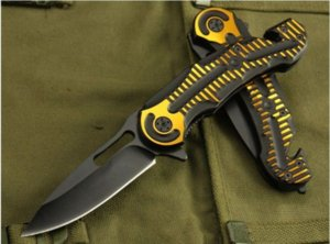 CR KT Folding Knife Camping Pocket Knife Survival Portable Hunting Tactical Multi EDC Outdoor Tool 0449