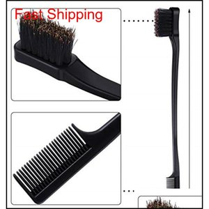 2019 Beauty Double Sided Edge Control Hair Comb Hair Styling Tool Hair Brush Toothbrush Style Ey jllOVm homeindustry